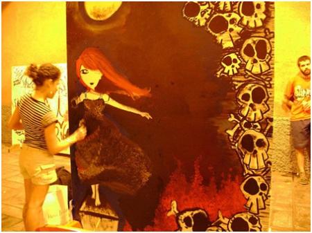 Painel de Grafite, 2008. Luisa Condé